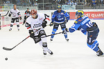 Justin Shugg (Nr.41, Koelner Haie), Ville Koistinen (Nr.10, ERC Ingolstadt), Greg Mauldin (Nr.20, ERC Ingolstadt) beim Spiel in der DEL, ERC Ingolstadt (blau) - Koelner Haie (weiss).<br /> <br /> Foto &copy; PIX-Sportfotos *** Foto ist honorarpflichtig! *** Auf Anfrage in hoeherer Qualitaet/Aufloesung. Belegexemplar erbeten. Veroeffentlichung ausschliesslich fuer journalistisch-publizistische Zwecke. For editorial use only.