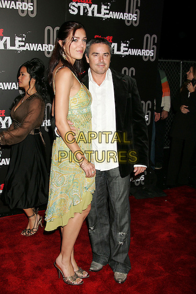 "ADRIANNE CURRY & CHRISTOPHER KNIGHT.""The Stuff Style Awards"" hosted by Stuff Magazine held at The Arclight, Hollywood, California, USA..September 27th, 2006.Ref: ADM/RE.full length green dress jeans denim black suit jacket.www.capitalpictures.com.sales@capitalpictures.com.©Russ Elliot/AdMedia/Capital Pictures."