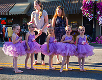 Generations Performing Arts dancers perform in the street for Fourth Friday in Uptown Westerville.