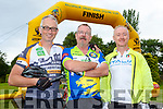 Alan Sayers, Aidan Spencer Killarney and Sean Kelliher Tralee who participated in the Ring of the Reeks cycle in Beaufort on Saturday