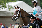 17 July 2010: Life at Ten, John Velazquez up, in the walking ring before the Delaware Handicap, which she won by three lengths. Delaware Park, Stanton, DE