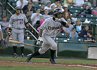 August 11, 2004:  Pedro Swann of the Ottawa Lynx, Triple-A International League affiliate of the Baltimore Orioles, during a game at Frontier Field in Rochester, NY.  Photo by:  Mike Janes/Four Seam Images