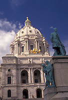 AJ2863, St. Paul, State Capitol, State House, Twin cities, Minnesota, State Capitol Building in Saint Paul the capital city in the state of Minnesota.