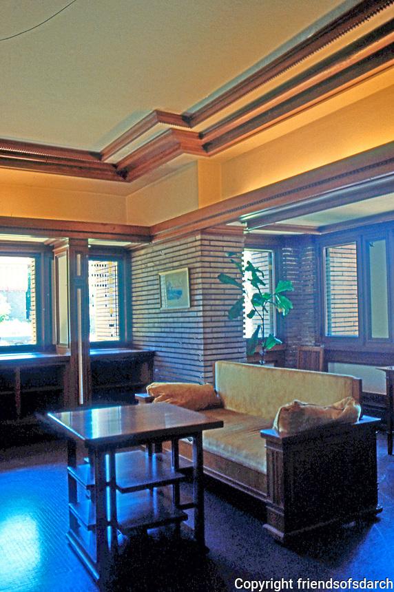 F.L. Wright: Martin House--Interior.  Photo '88.