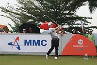 Sunghoon Kang (Asia) on the 5th tee during the Saturday Foursomes of the Eurasia Cup at Glenmarie Golf and Country Club on the 13th January 2018.<br /> Picture:  Thos Caffrey / www.golffile.ie