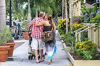 Couple strolls along Third Street South, Naples, Florida, USA ... Photo by Debi Pittman Wilkey