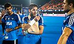 BHUBANESWAR - Blessure voor Agustin Mazzilli van Argentinie tijdens de Hockey World League Finals ,opgelopen ten England  COPYRIGHT KOEN SUYK