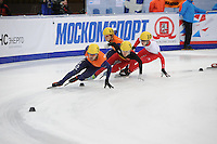 "SHORT TRACK: MOSCOW: Speed Skating Centre ""Krylatskoe"", 14-03-2015, ISU World Short Track Speed Skating Championships 2015, Semifinals 1500m Men, Sjinkie KNEGT (#148 