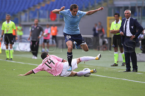 25.09.2011 Rome Italy.   Lulic in action during the Serie A match between S.S. Lazio and Palermo, played in the Stadio Olimpico Rome.