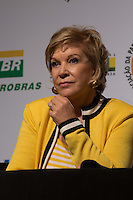 SAO PAULO, SP, 02 JUNHO 2013 - ENTREVISTA COLETIVA -PARADA DO ORGULHO GLBT - A Ministra da Cultura Marta Suplicy durante a entrevista coletiva da 17 Parada do Orgulho LGBT no teatro Raul Cortez, na manhã  deste domingo, 02. (FOTO: ADRIANA SPACA / BRAZIL PHOTO PRESS).