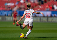 FRISCO, TX - MARCH 11: Mapi Leon #16 of Spain crosses the ball during a game between England and Spain at Toyota Stadium on March 11, 2020 in Frisco, Texas.