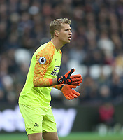 Huddersfield Town's Jonas Lossl<br /> <br /> Photographer Rob Newell/CameraSport<br /> <br /> The Premier League - West Ham United v Huddersfield Town - Saturday 16th March 2019 - London Stadium - London<br /> <br /> World Copyright © 2019 CameraSport. All rights reserved. 43 Linden Ave. Countesthorpe. Leicester. England. LE8 5PG - Tel: +44 (0) 116 277 4147 - admin@camerasport.com - www.camerasport.com
