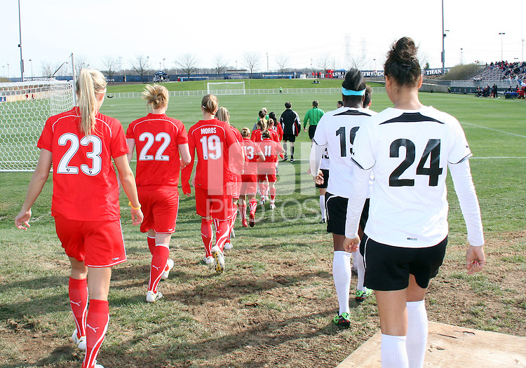 Teams of the  Washington Freedom and of the Philadelphia Independence during a WPS pre season match at the Maryland Soccerplex on March 27 2010 in Boyds, Maryland. The game ended in a 0-0 tie.