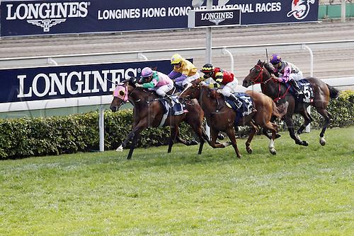 11.12.2016, Hong Kong,  CHINA.  Aerovelocity with Zac Purton up wins the Hong Kong Sprint. Sha Tin racecourse.