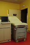 "1/22/13/  Jackson MS -Pictured is the exam room at the Jackson Women's Health Organization, the only abortion clinic in the state of Mississippi, it is owned by Diane Derzis. Governor Phil Bryant joins the PLAN (Pro Life America Network) and speaks at the Mississippi State capital in support of his Pro Life agenda on the 40th Anniversary of Roe-v-Wade. Governor Bryant asked  for people to ""pray for the unborn babies"" and Bryant is pushing hard to close the States only operating Abortion Clinic. Photo© Suzi Altman"