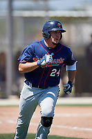 Minnesota Twins Bryant Hayman (24) during a Minor League Spring Training game against the Tampa Bay Rays on March 15, 2018 at CenturyLink Sports Complex in Fort Myers, Florida.  (Mike Janes/Four Seam Images)