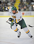 18 January 2008: University of Vermont Catamounts' forward Jack Downing, a Freshman from New Canaan, CT, in action against the Northeastern University Huskies at Gutterson Fieldhouse in Burlington, Vermont. The two teams battled to a 2-2 tie in the first game of their 2-game weekend series...Mandatory Photo Credit: Ed Wolfstein Photo