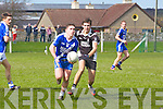 Conor O'Shea (St Mary's) in action with David Griffin (Ardfert) in the County League Division 3 Round 2 at Ardfert GAA Grounds on Sunday.
