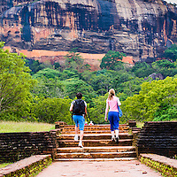 Photo of tourists at Sigiriya Rock Fortress, aka Lion Rock, Sri Lanka. This is a photo of tourists at Sigiriya Rock Fortress, aka Lion Rock, Sri Lanka. Sigiriya Rock is easily the most popular tourist attraction in Sri Lanka.