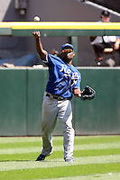 August 15 2008:  Right Fielder Jose Guillen of the Kansas City Royals during a game at U.S. Cellular Field in Chicago, IL.  Photo by:  Mike Janes/Four Seam Images
