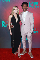 NEW YORK, NY - APRIL 19: Olivia Holt and Aubrey Joseph at The 2017 Freeform Upfront in New York City on April 19, 2017. <br /> CAP/MPI/DIE<br /> &copy;DIE/MPI/Capital Pictures