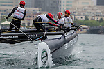 Competitors in action during Day 1 Act 3 Extreme Sailing Series Qingdao 2015 at Qingdao International Sailing Centre on May 1, 2015 in Qingdao, China. Photo by Xaume Olleros / Power Sport Images