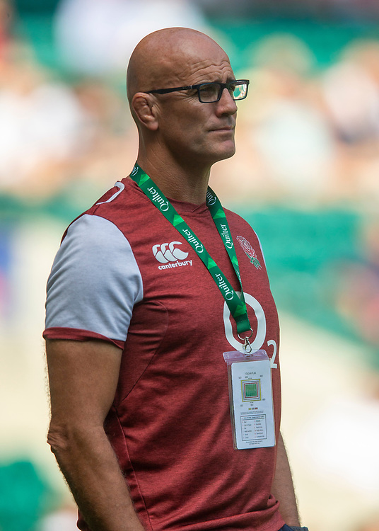 England's Defence Coach John Mitchell<br /> <br /> Photographer Bob Bradford/CameraSport<br /> <br /> Quilter Internationals - England v Ireland - Saturday August 24th 2019 - Twickenham Stadium - London<br /> <br /> World Copyright © 2019 CameraSport. All rights reserved. 43 Linden Ave. Countesthorpe. Leicester. England. LE8 5PG - Tel: +44 (0) 116 277 4147 - admin@camerasport.com - www.camerasport.com