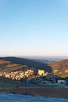 Roquetaillade hilltop village. Limoux. Languedoc. Evening sunshine. France. Europe.
