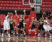 The University of Michigan Women's  Basketball team competed against the University of Maryland  in the Big Ten ACC Challenge at Maryland. November 30th, 2011.