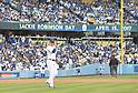 Kenta Maeda (Dodgers),<br /> APRIL 15, 2017 - MLB :<br /> Los Angeles Dodgers starting pitcher Kenta Maeda walks to the mound during the Major League Baseball game against the Arizona Diamondbacks at Dodger Stadium in Los Angeles, California, United States. (Photo by AFLO)