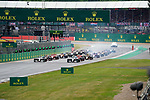 14.07.2019, Silverstone Circuit, Silverstone, FORMULA 1 ROLEX BRITISH GRAND PRIX 2019<br /> , im Bild<br />Rennstart:<br />Valtteri Bottas (FIN#77), Mercedes-AMG Petronas Motorsport, Lewis Hamilton (GB#44), Mercedes-AMG Petronas Motorsport, Charles Leclerc (MCO#16), Scuderia Ferrari Mission Winnow, Sebastian Vettel (GER#5), Scuderia Ferrari Mission Winnow, Pierre Gasly (FRA#10), Aston Martin Red Bull Racing, Max Verstappen (NEL#33), Aston Martin Red Bull Racing<br /> <br /> Foto © nordphoto / Bratic