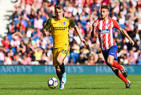 Solly March of Brighton & Hove Albion (20)  In action during the pre season friendly match between Brighton and Hove Albion and Atletico Madrid at the American Express Community Stadium, Brighton and Hove, England on 6 August 2017. Photo by Edward Thomas / PRiME Media Images.