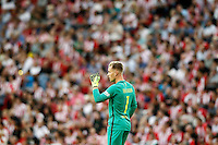 FC Barcelona's Marc-Andre Ter Stegen celebrates goal during La Liga match. August 28,2016. (ALTERPHOTOS/Acero) /NORTEPHOTO