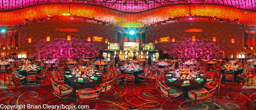 A 360 degree panoramic view of the banquet room for the 2013 Grand-Am Rolex Series banquet at Gothem Hal, Manhattan, New York City NY. (Photo by Brian Cleary/www.bcpix.com)