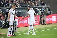Felix Platte (Schalke) wird eingewechselt, Kevin-Prince Boateng (Schalke) geht raus - Eintracht Frankfurt vs. FC Schalke 04, Commerzbank Arena