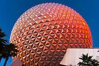Spaceship Earth (geosphere), Epcot, Walt Disney World, Orlando, Florida USA