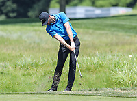 Potomac, MD - July 1, 2018: Kyle Stanley plays a shot from the rough during final round at the Quicken Loans National Tournament at TPC Potomac  in Potomac, MD, July 1, 2018.  (Photo by Elliott Brown/Media Images International)