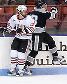 Brodie Reid (Northeastern - 15), Steven Shamanski (Providence - 28) - The Northeastern University Huskies defeated the visiting Providence College Friars 5-0 on Saturday, November 20, 2010, at Matthews Arena in Boston, Massachusetts.