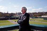Tim Phillips, Chairman of the All England Club at Wimbledon, London, on one of  Centre Court's balconies..