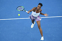 January 28, 2017: Venus Williams of United States of America in action in the Women's Final match against Serena Williams of United States of America on day 13 of the 2017 Australian Open Grand Slam tennis tournament in Melbourne, Australia. Photo Sydney Low
