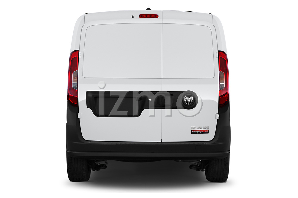 Straight rear view of 2019 Ram Promaster-City Tradesman 5 Door Car Van Rear View  stock images