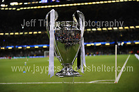 The UEFA Champions League Cup on display before the game. <br /> <br /> <br /> Jeff Thomas Photography<br /> www.jaypics.photoshelter.com<br /> e-mail swansea1001@hotmail.co.uk<br /> Mob: 07837 386244