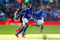 1st February 2020; King Power Stadium, Leicester, Midlands, England; English Premier League Football, Leicester City versus Chelsea; Kelechi Iheanacho of Leicester City on the ball
