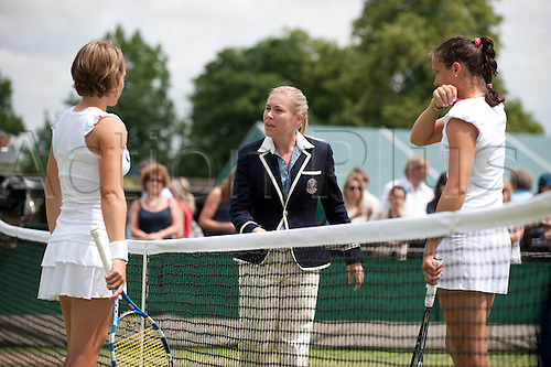 June 30th 2010: Wimbledon International Tennis Tournament held at the All England Lawn Tennis Club, London, England, Laura Robson of GBR playing An-Sophie Mestach of BEL