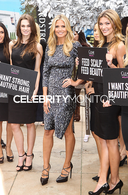 LOS ANGELES, CA - MAY 01: Heidi Klum Appearance For Clear Scalp & Hair Beauty Therapy at The Grove on May 1, 2013 in Los Angeles, California. (Photo by Celebrity Monitor)