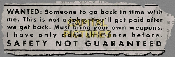 POSTER ART<br /> in Safety Not Guaranteed (2012) <br /> *Filmstill - Editorial Use Only*<br /> CAP/NFS<br /> Supplied by Capital Pictures
