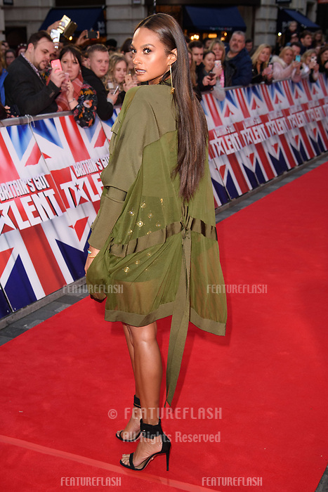 Alesha Dixon at the London auditions for Britain's Got Talent 2018 at the London Palladium, London, UK. <br /> 28 January  2018<br /> Picture: Steve Vas/Featureflash/SilverHub 0208 004 5359 sales@silverhubmedia.com