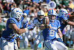 October 22, 2016 - Colorado Springs, Colorado, U.S. -   Air Force quarterback, Nate Romine #6, and the Falcons dominate the rushing game during the NCAA Football game between the University of Hawaii Rainbow Warriors and the Air Force Academy Falcons, Falcon Stadium, U.S. Air Force Academy, Colorado Springs, Colorado.  Hawaii defeats Air Force in double overtime 43-27.