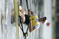 Poznan, POLAND.  2006, FISA, Rowing, World Cup,  AUS LM1X  Tim SMITH, moves  away from  the  start, on the Malta  Lake. Regatta Course, Poznan, Thurs. 15.05.2006. © Peter Spurrier   .[Mandatory Credit Peter Spurrier/ Intersport Images] Rowing Course:Malta Rowing Course, Poznan, POLAND