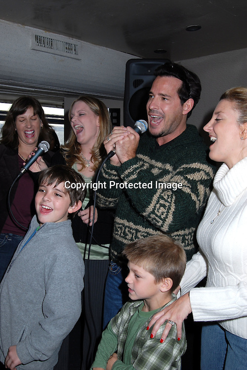 Ricky Paull Goldin singing with Nicholas Art with Miles Williams..at The Gus Bus Harbor Cruise on October 15, 2006 on World Yacht Boat Temptress.                                         Robin Platzer, Twin Images